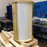 Renovering af tromle på Velskin lavet i plastmateriale PE-1000